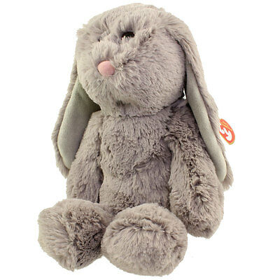 TY Attic Treasures - PUFFIN the Grey Bunny (Medium Size - 12 inch) - MWMTs
