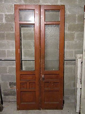 ~ Antique Double Entrance French Doors ~ 44 X 95 ~ Architectural Salvage