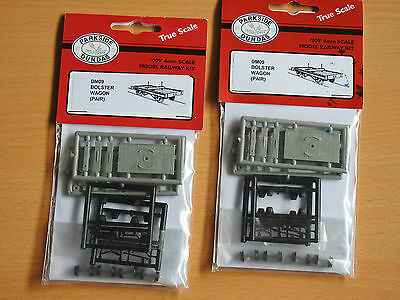 "Parkside Dundas ""009"" 4Mm Scale  Bolster Wagon Kits X 2 (4 Wagons)"