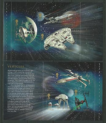 Great Britain 2015 Star Wars 2 S/A Panes From Prestige Book Unmounted Mint