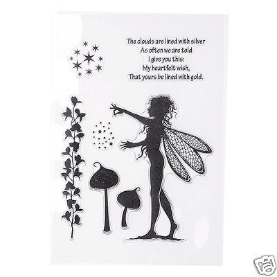 Silicone Clear Stamps for Scrapbooking DIY Photo Cards Album,#fairies