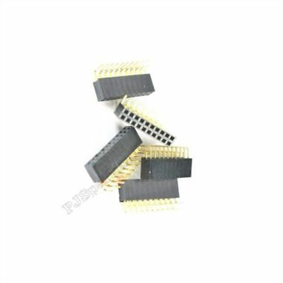 10Pcs Pin Header Double Row 2.54MM Pitch 2X10 Socket Connector Right Angle ko