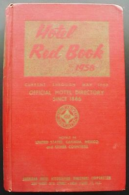 1959 Hotel Red Book, 1120 pp. & 100s of illus., US Canada West Indies World