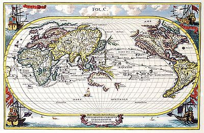 12x18 inch Reprint of Old Maps Old Map Of Various Parts Of The World Reprint 11