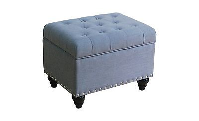 Threshold Danbury Tufted Storage Ottoman with Nailheads, NEW/CLEAN