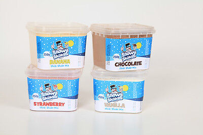 Thick shake / Milk shake Powder  Mix from Snowycones 4 great flavours to Try.