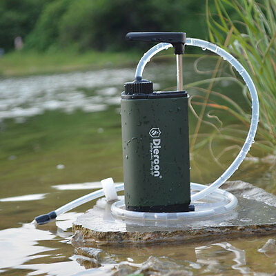 Camping Hiking Military Emergency Water Straw Filter Purifier Outdoor Survival