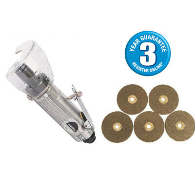 "3"" Air Cut Off Tool Grinder Cutter Tools + 5 Cutting Discs 3Yr Warranty"