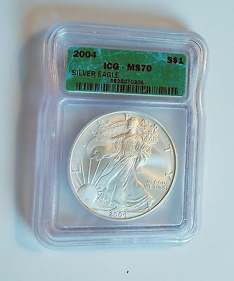 ICG Certified MS70 2004 American Silver Eagle