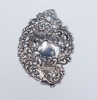 Rare Antique 1890s Shiebler Ornate Pierced Sterling Silver Match Holder