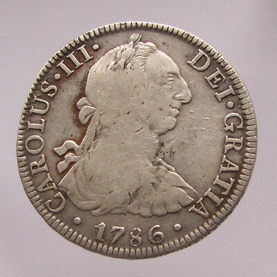 Mexico, Charles III, silver 8 reales,1786 FM, Mexico City, Fine