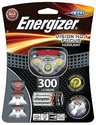 S9180 Energizer Vision HD: Focus Headlight 300 Lumens Night Cycling Light NEW