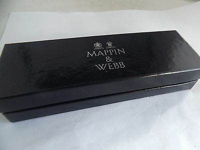 a boxed mappin and webb silver christening spoon