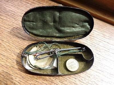 Antique 18th century Pocket Balance Guinea Coin Scales Westwood Birmingham cased