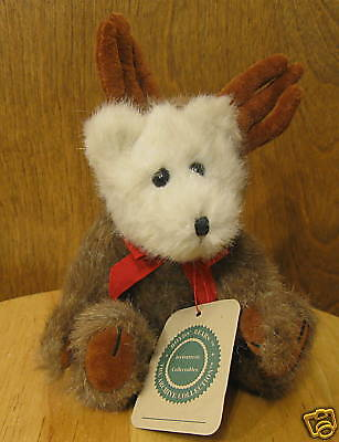 "Boyds Plush #9127 EWELL, 8"" Bear as Moose, New/tags From Retail Store, jointed"