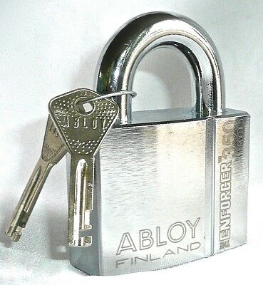 "ABLOY The Enforcer 350 Keyed Padlock With 2 Keys 2.75""L x 1""W x 3.75""H  NEW"
