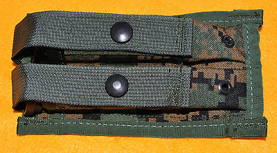 Double Magazine pouch holds 2-15rd. MAGS MARPAT Woodland USMC Brand new Service