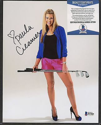 Paula Creamer Signed 8x10 Photo Beckett BAS COA AUTO Autograph