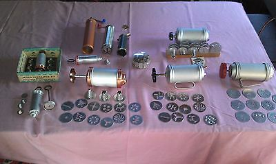 Large Lot of Vintage MIRRO Cookie Pastry Cookie-Pastry Presses Discs & Wear Ever