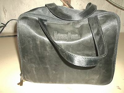 Neiman Marcus Travel Set Bag Containers 2Oz Black Airplane Carry On (Wl113)