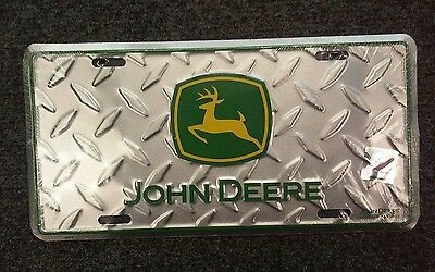 Old New Stock Advertising JOHN DEERE License Plate NWT