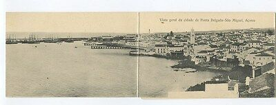 Portugal AZORES Acores S. Miguel 3 parts panorama (separated) old 1910s postcard