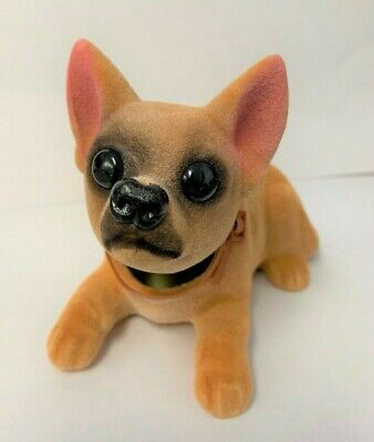 2 BOBBLE HEAD CHIHUAHUA DOGS mexican dog bobbing heads car dash pupppy new item