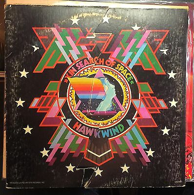 HAWKWIND IN SEARCH OF SPACE LP 1st Press Fold Open Cover with Log Book 1972