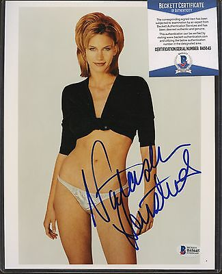 Natasha Henstridge Signed 8x10 Photo Beckett BAS COA AUTO Autograph