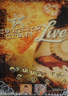 "COUNTING CROWS / LIVE ""SUMMER TOUR 2000"" U.S. PROMO POSTER - Alternative Rock"