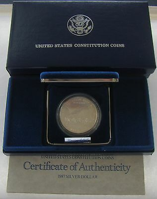 1987 Constitution Silver Proof Dollar Coin Set w/ COA ~ Mint