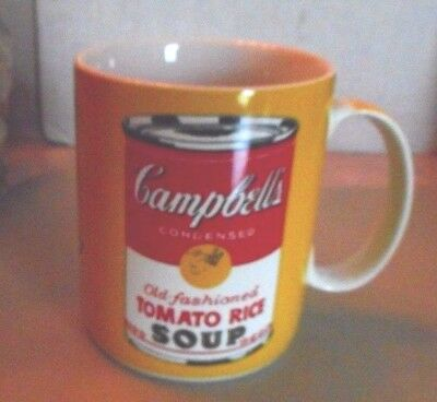 Andy Warhol Campbell's Tomato Rice Soup Can Mug in Yellow
