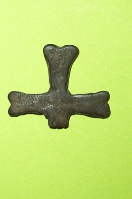 Ancient BYZANTINE CROSS 500 AD engraved jewelry old artifact Christian treasure