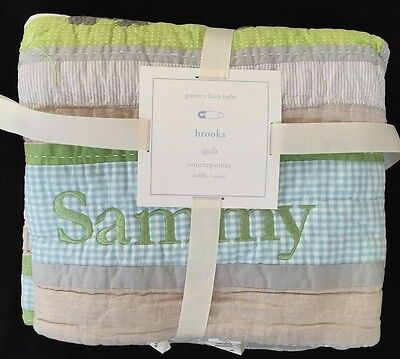Pottery Barn Kids Brooks Toddler Quilt *sammy* New Elephant Rhino Giraffe Safari