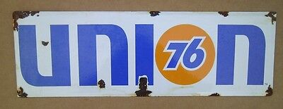 UNION 76 PORCELAIN ENAMEL ADVERTISING SIGN Gas & OIl