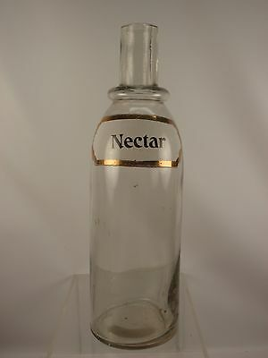 Enameled Label Nectar Soda Fountain Bottle