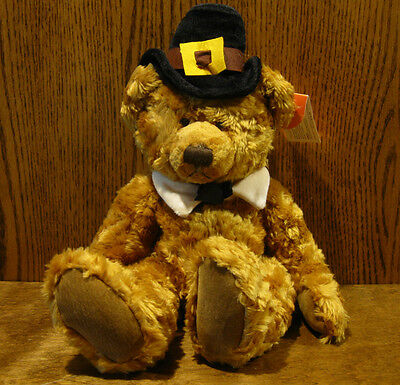 """Russ Berrie Plush #5938 PLYMOUTH, 9"""" sitting , Harvest Time Collection, New/Tags"""