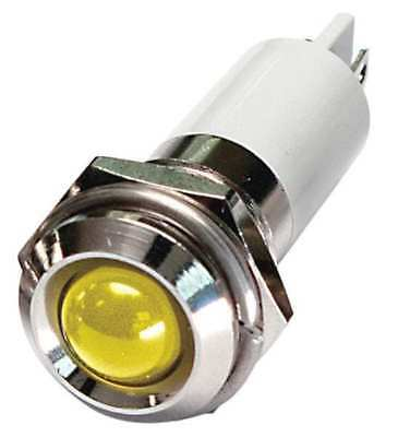 24M113 Round Indicator Light, Yellow, 24VDC