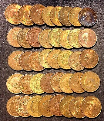 Old Mexico Coin Lot - 5 Centavos - SMALL TYPE - 40 Great Coins - Lot #A25