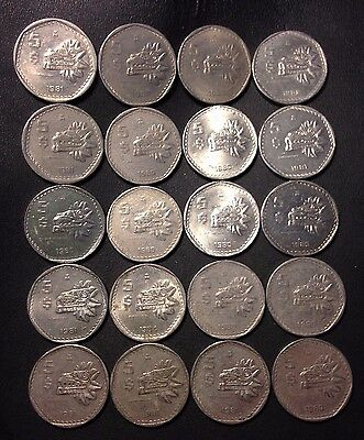 Old Mexico Coin Lot - 5 PESOS - 20 Uncommon Type - Great Coins - Lot #A25