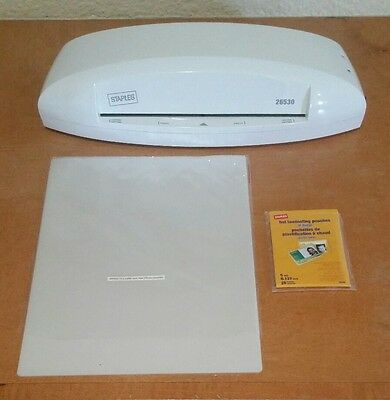 Staples 9.5 inch Laminator Thermal and Cold Laminating Machine Model 26530 White