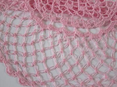 Vintage Doily Pink Hand Crochet