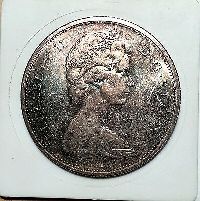 1965 Canada Proof-Like Voyageur Dollar - Beautifully Toned Obverse & Reverse