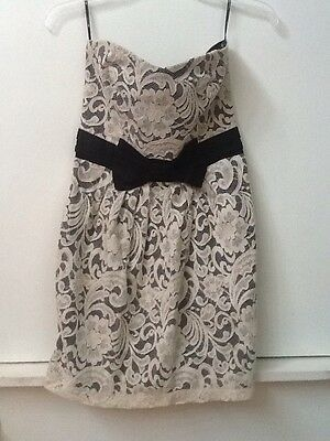 Bb Dakota Wet Seal Forever 21 Strapless Black Lace Dress 1800