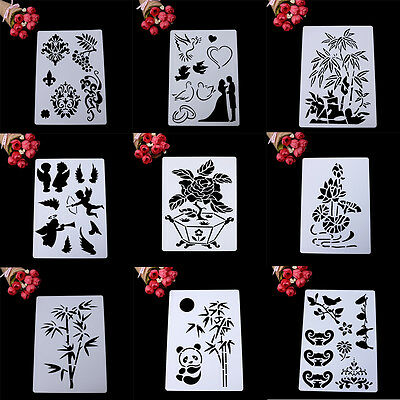 Layering Stencils Album Scrapbooking Drawing Painting Template Paper DIY Mould