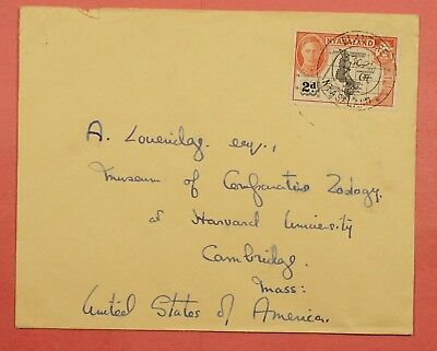 1945 Nyasaland British Africa Blantyre Cancel Single Franked Cover To Usa