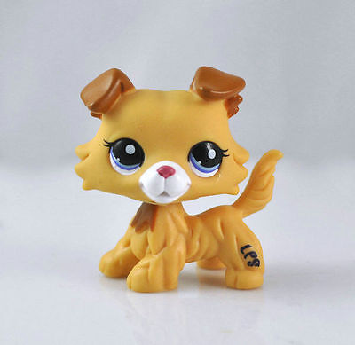 Pet Littlest Collie Dog Child Girl Figure Toy Loose Cute Xmas LPS843
