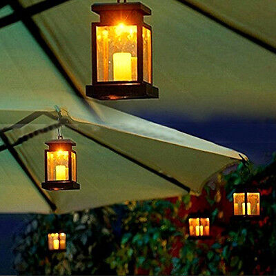 Solar Powered LED Light Outdoor Garden Landscape Hanging Lantern Hanging Lamp AU