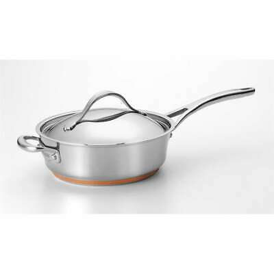 Anolon Nouvelle Stainless Steel 3-Quart Covered Saute - 75853