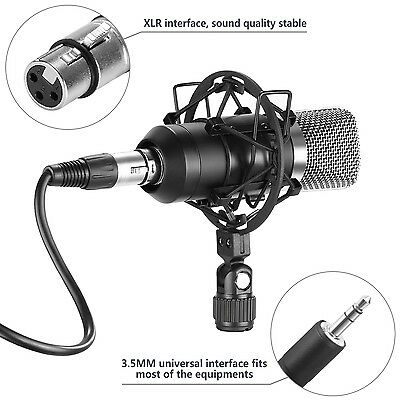 Neewer NW-7000 Broadcasting Recording Condenser Microphone Set with Shock Mount